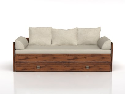 Rozkládací postel 80 až 160 cm - BRW - INDIANA - JLOZ 80/160 (Dub sutter)